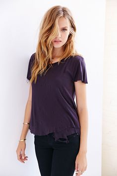 Josephine Skriver for UO. Color scheme and relaxed style. Not so much the tatters.