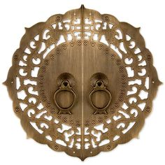 Flowering Lotus Cabinet Face Plate by Chinese Brass Hardware Asian Furniture, Chinese Furniture, Oriental Furniture, Bathroom Hardware, Home Hardware, Brass Hardware, Cabinet Hardware, Chinese Door, Chinese Cabinet