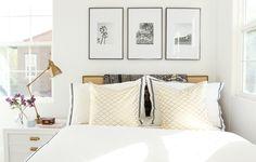 Trendy bedroom design black and white frames ideas Gold Bedroom, Bedroom Black, Master Bedroom, Bedroom Frames, Black Interior Design, Home Interior, Bedroom Furniture, Bedroom Decor, Bedroom Ideas