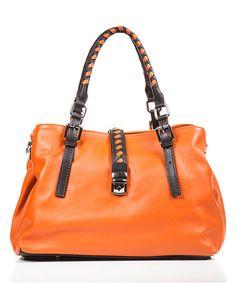 Another great find on #zulily! Orange Braid-Strap Leather Shoulder Bag #zulilyfinds