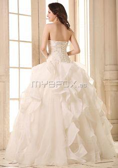 Vestido de novia 2013 de Organdí con encaje y abalorios 20115  €183.99
