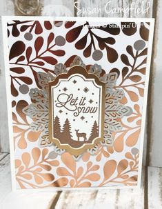 Merry Little Labels, Year of Cheer Specialty DSP, Everyday Label punch, Lots of Label Framelits, Copper Foil, Copper embossing powder, Foil Snowflake (Silver)