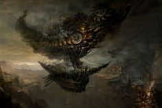 Sci-Fi Warships | steampunk sci-fi fantasy cities art ships boat vehicles wallpaper ...