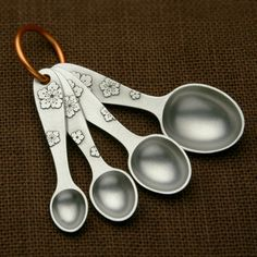 Blossom Measuring Spoon Set  by Beehive Kitchenware Co.