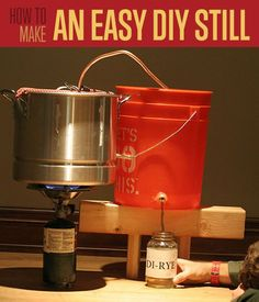 DIY Projects! How To Make A Still | http://diyready.com/how-to-make-a-still-self-reliance/
