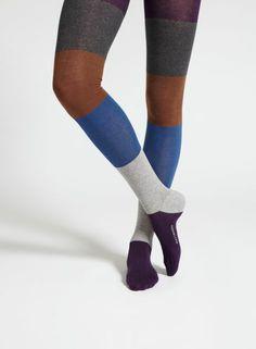 Oktaavi-sukkahousut (sininen, ruskea, harmaa) |Asusteet, Sukat ja sukkahousut, Laukut & asusteet | Marimekko