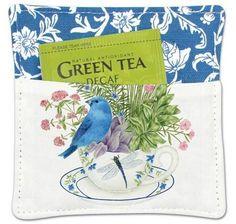 Bluebird Spiced Mug and Tea Cup Mat with Tea Bag
