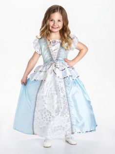 Cute Halloween costume or dress up - Cinderella-inspired dress only $29. Sizes for 12 months old- 9 years