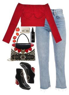 """Untitled #808"" by lindsjayne ❤ liked on Polyvore featuring MANGO and Gucci"