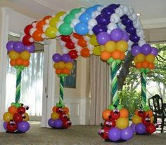 Decoración para fiestas con globos