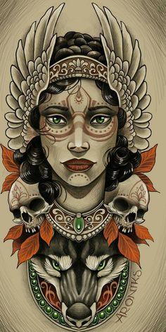 Chicanas Tattoo, Full Tattoo, Tatto Ink, Tatoo Art, Color Tattoo, Body Art Tattoos, Tattoo Drawings, Sleeve Tattoos, Tattoo Sketches