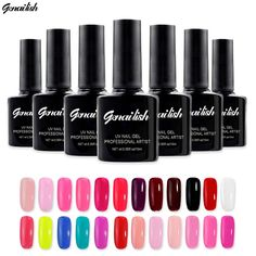 168 Colors Gel Nail Polish UV Gel Polish Long-lasting Soak-off LED UV Gel Color Hot Nail Gel 10ml/Pcs Nail Art Tools-GB1