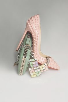 Christian Louboutin - Pigalle spikes Always the expensive shoes that are cute as hell.. -A