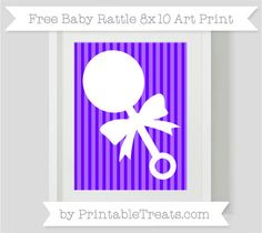 Free Indigo Striped Baby Rattle 8x10 Art Print