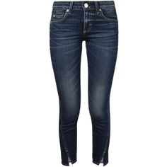 Amo Twisted Seam Jeans (£170) ❤ liked on Polyvore featuring jeans, blue, twisted jeans and blue jeans