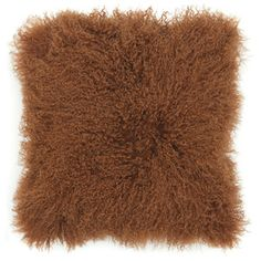 Sheepskin Pillow 20x20 Orange, $110, now featured on Fab.