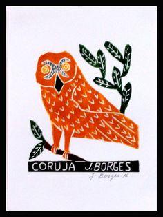 J. Borges. Coruja (Xilogravura). 33x24 cm