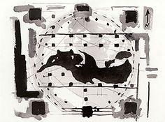 Mediterraneo Aedificandi Studio (2011) : ink on paper / encre sur papier / inchiostro su carta, 56x76cm ©RobertoMangú #painting #art #fineart #RobertoMangu