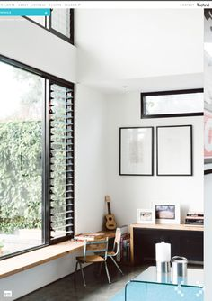 Flemington Residence by Techne Architects - Windows. Big Windows, Windows And Doors, Tropical Windows, Louvre Windows, New Furniture, Interiores Design, White Walls, Interior Architecture, Living Spaces