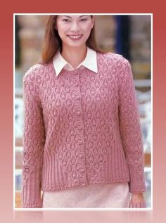"Photo from album ""Let's knit series 02 sp-kr"" on Yandex. Ladies Cardigan Knitting Patterns, Knitting Paterns, Fair Isle Knitting Patterns, Knit Cardigan Pattern, Lace Knitting, Knitting Designs, Knitting Stitches, Summer Knitting, Knitting For Kids"