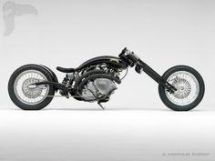 vintage(ish) bike of the day: 1951 vincent black shadow chopper - bikerMetric