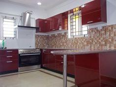 innovative small modular kitchen decor inspirations : exquisite
