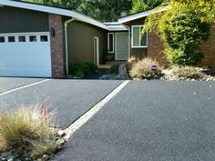 We resurfaced this cracked aggregate driveway - looks beautiful!