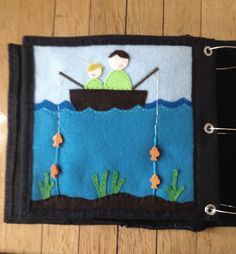The Quiet Book Blog: Katie's Quiet Book - Fish can be moved up and down