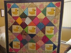 Baby quilt, designed, machine pieced, hand appliqued and hand stitched by me.                                                            Sold.                                www.etsy.com/shop/ihandquiltitbyliz