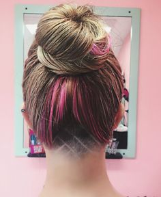 Undercut design. Hairstyle