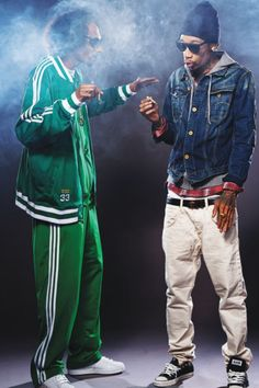 "Snoop Dogg & Wiz Khalifa in ""Mac and Devin go to high school."""