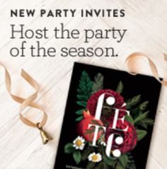 """Baumbirdy """"Floral Fete"""" holiday party invitations for minted"""