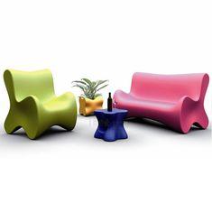 Armchairs for the garden Vondom Doux by Karim Rashid