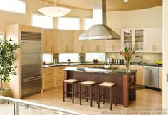 #Kitchen Idea of the Day: Modern Kitchen Designs. (By Crown Point Cabinetry). Unique rounded kitchen.