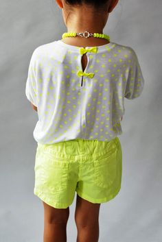 who doesn't love a few neon polka dots and bows? the | pommie | shirt by WUNWAY