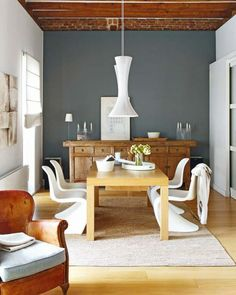 Teal-grey feature wall... Perfect compromise?