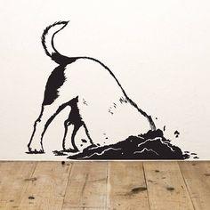 Digging Dog Vinyl Wall Sticker