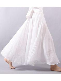 NewChick.com white maxi skirt