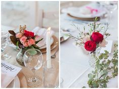 Destination wedding details, table centrepeices with pink and olive with peonies and cut glass vases