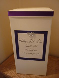 Ivory Personalised And Decorated Wedding Card Post Box Any Colour Etsy