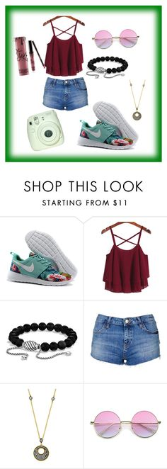 """""""Floral shoes"""" by yellowfoxx ❤ liked on Polyvore featuring David Yurman, Topshop, Freida Rothman and Kylie Cosmetics"""