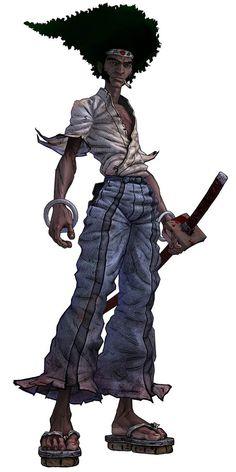 Afro Samurai: Afro Samurai, Samurai Art, Samurai Warrior, Comic Anime, Anime Comics, Comic Art, Anime Art, Black Cartoon, Cartoon Art