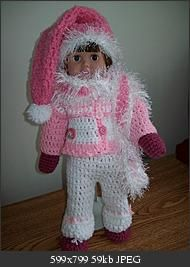 Snowsuit Crochet Pattern for American Girl doll