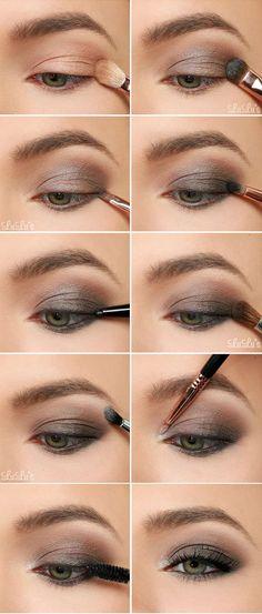 Maquillage smokey gris