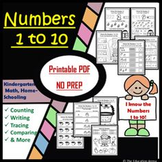 Math Activities, Teaching Resources, Teaching Ideas, Classroom Management Tips, Kindergarten Curriculum, Primary Maths, Writing Numbers, Teaching Materials, Printable Worksheets
