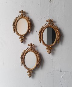 Gold framed Mirror Set of Three in Small by SecretWindowMirrors, $49.00