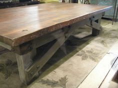 Rectangular Reclaimed Douglas Fir Custom Coffee Table (Los Angeles). $1,185.00, via Etsy.