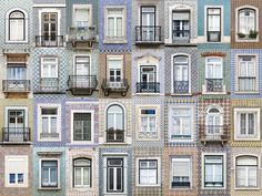 windows of Lisbon, Portugal   Lisbon windows appear to feature much more tiling than the other windows in the series, with the surrounding areas of the windows entirely tiled