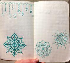 Mandala Snowflake Doodles by Rachel Mims rachelmims.blogspot.com