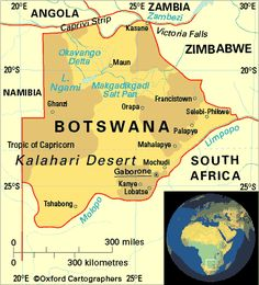 Botswana is a landlocked country located in Southern Africa, north of South…